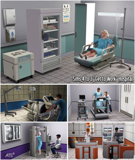 Sims 4 to 3 Hospital by Sandy - Sims 3 Downloads CC
