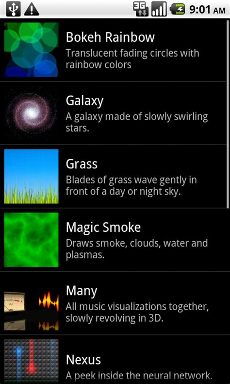 Live wallpapers with Android SDK 2